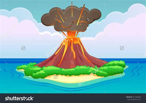 clipart volcano island volcano eruption clipart download island volcano
