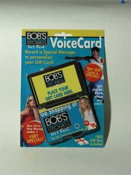 Recordable Gift Cards - bob s stores recordable gift card holder voice express