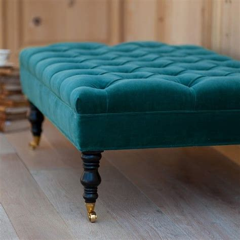 Colored Ottomans Hazel Tufted Ottoman By Bradshaw Kirchofer I This Peacock Blue Teal Colored Ottoman