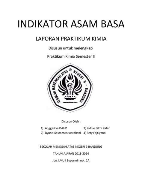 laporan praktikum membuat indikator asam basa pengamatan kimia indikator asam dan basa