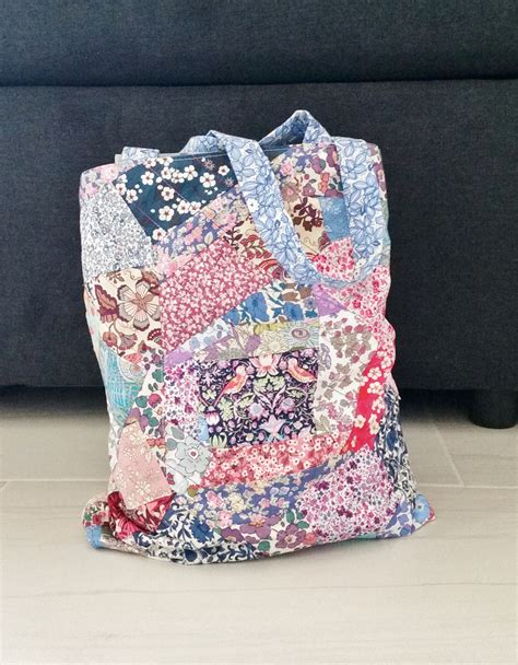 Liberty Patchwork - diy liberty patchwork tote bag mad for fabric