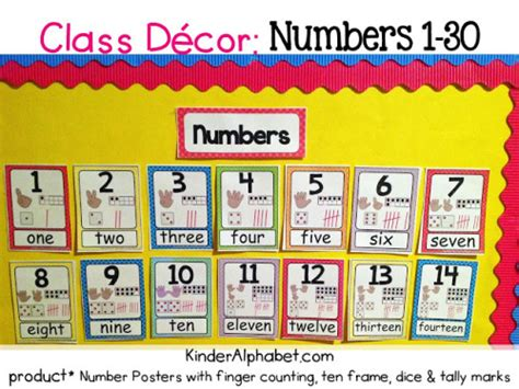 printable number line bulletin board classroom decor linky party