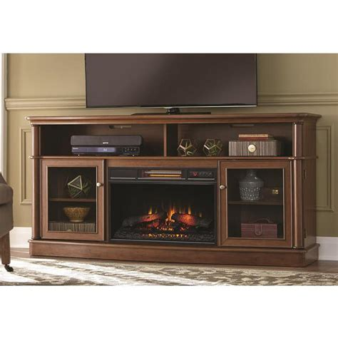 Infrared Media Fireplace by Home Decorators Collection Avondale Grove 70 In Media Console Infrared Electric Fireplace In