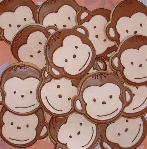 Monkey Cookie Cutter Baby Shower by Best 25 Monkey Cookies Ideas On Chunky Monkey