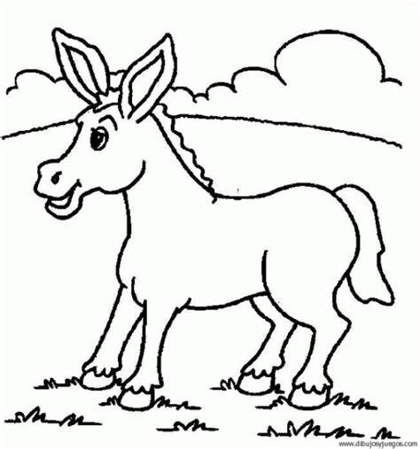 imagenes para colorear burro dibujo de burro 09 dibujos y juegos para pintar y colorear