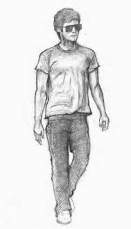 walking man drawing cliparts co