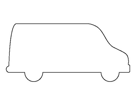 printable images of van printable van template