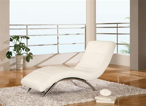 White Leather With Chaise modern white leather chaise