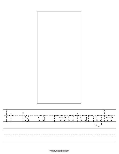 Rectangle Worksheet by It Is A Rectangle Worksheet Twisty Noodle