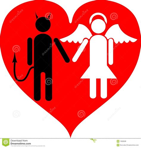 devil and angel it is love royalty free stock photos