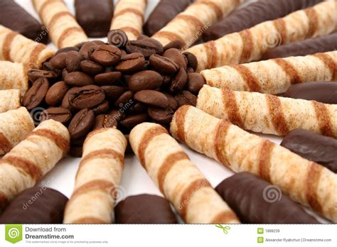 Chocolate Sticks With A Cream And The Grains Of Coffee Royalty Free Stock Images   Image: 1888239