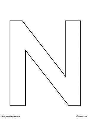 Best 25 Letter N Crafts Ideas On Pinterest Letter N N Is For And Preschool Letter Crafts Letter Template Activity