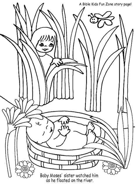 coloring pages for baby moses in the river hristos 238 mpărtăşit copiilor februarie 2012