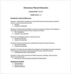 Physical Template For Students by Physical Education Lesson Plan Template 8 Free Sle