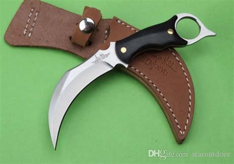 Karambit United Claw Cutter united uc120 karambit hibben claw survival knife micarta handle tactical cing