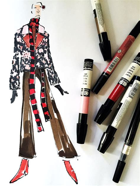 fashion illustration markers markers and microns fashion illustration fashion