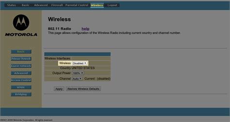 Disable Wifi Id Modem apocryphalcoder howto turn a motorola surfboard into just a modem and not a wireless router