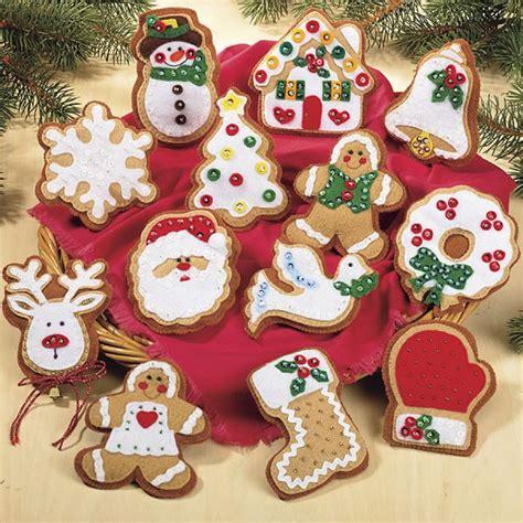 gingerbread ornaments felt pinterest