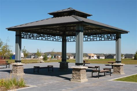 steel gazebos vardell series custom park amp leisure