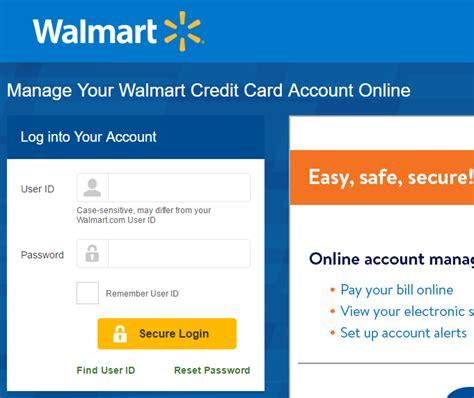 make walmart credit card payment walmart credit card login and steps to make a payment