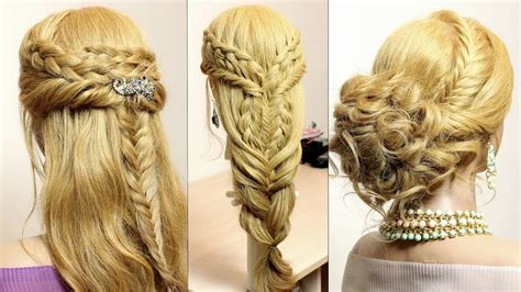 easy hairstyles with braids youtube 3 easy hairstyles for long hair tutorial cute braids