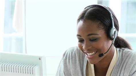 woman telephone operator working hd stock video
