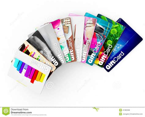 Different Kinds Of Gift Cards - wide range of gift card ideas for all types of people stock illustration image 41383398