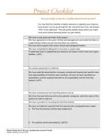 qi project template quality improvement project guide