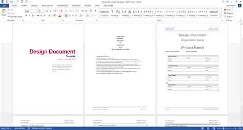 software template design document ms word template