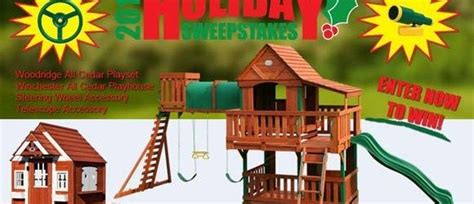 backyard discovery winchester playhouse win a woodridge swingset winchester playhouse more with