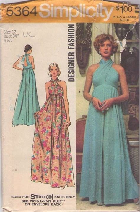 dress pattern finder simplicity 5364 vintage 70s funky cool twisted bodice