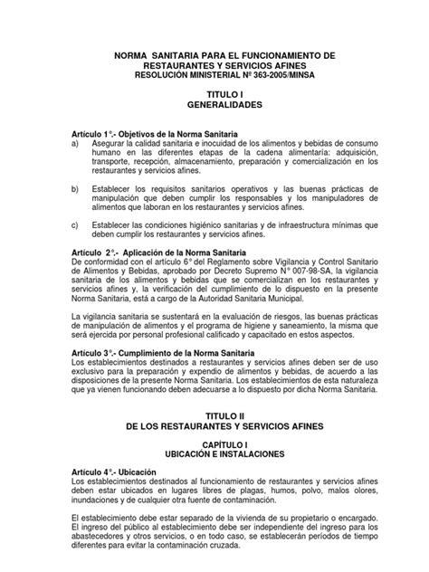 permiso de manipulacion de alimentos norma sanitaria para el funcionamiento de restaurantes y