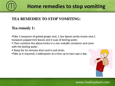 how to stop a from vomiting home remedies to stop vomiting