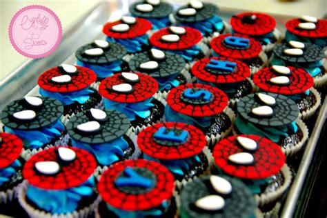 spiderman cupcakes cynfullysweets pinterest spiderman  cupcake