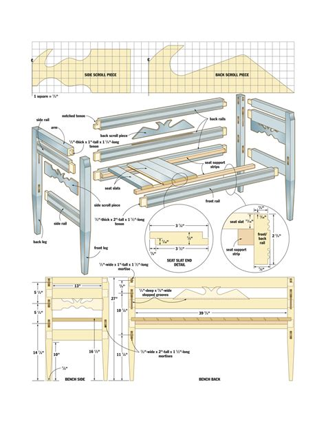 wood woodworking plan  bench  plans