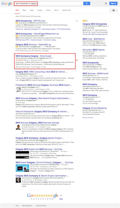 Search Optimization Companies 1 by Calgary Seo Services Andy Kuiper Certified Search