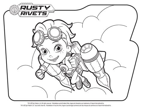 jet pack coloring pages rusty rivets coloring pages getcoloringpages com