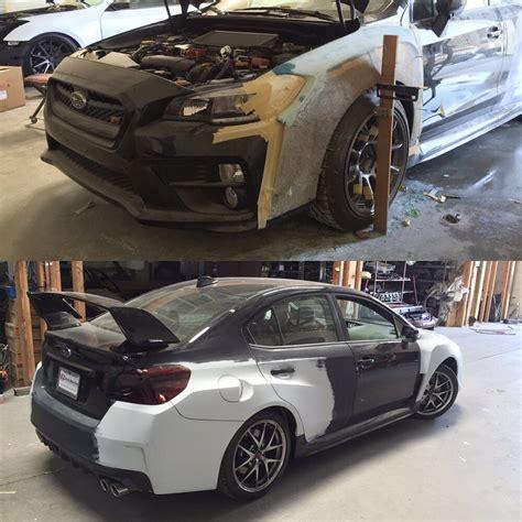 subaru wrx custom paint 2015 subaru wrx sti w custom wide work widening the