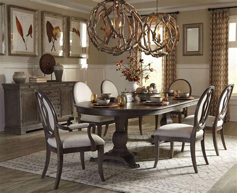 Cleopatra Pedestal 7 Rectangle Dining Room Set By Homey Design Hd 8017 Dt St Germain Rectangular Pedestal Dining Room Set