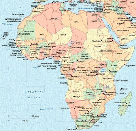 africa map updated nelson mandela ck foreign missions