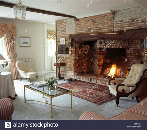 Living Room Ideas With Inglenook Fireplace Rug In Front Of Inglenook Fireplace In Cottage