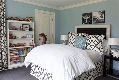 black white and tiffany blue bedroom schumacher zimba contemporary boy s room tiffany
