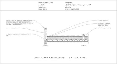 flat roof section drawing pin by dekran erickson on my art interior design school