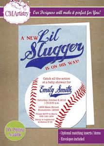 personalized photo invitations cmartistry personalized slugger baseball baby shower