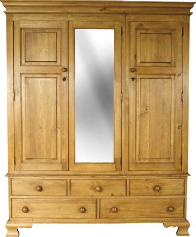 Wood Wardrobe With Mirror Ogee Bedroom Range Solid Wood Wardrobe With 5