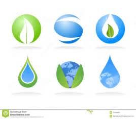 ecology nature logo elements royalty free stock photos