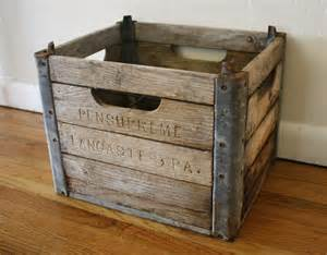 antique wood and metal crates picked vintage