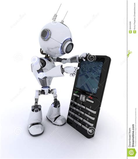Mainan Robot Mobile Telephone robot with cell phone stock illustration illustration of