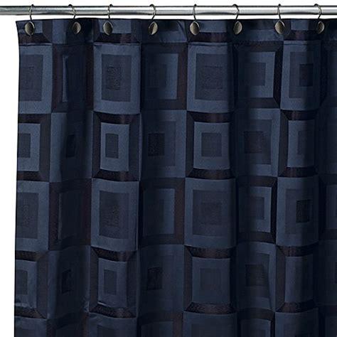 metro shower curtain croscill metro navy fabric shower curtain bed bath beyond