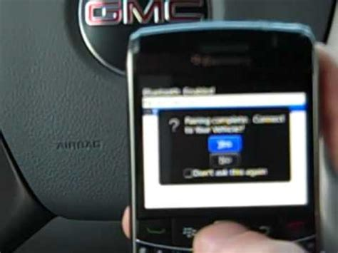 gmc bluetooth pairing how to pair bluetooth on your gmc